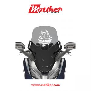 HONDA FORZA MAXİ SCOOTER ÖN CAM ADVENTURE CAMPING STİCKER SET